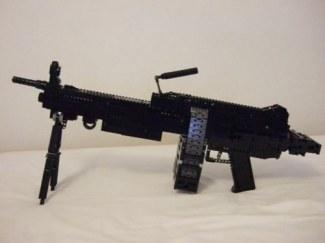 armas, construidas, piezas, ladrillos, lego, disparan